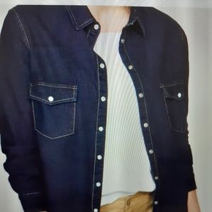 Mango dark denim shirt. Puls size L